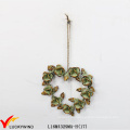 Wreath Retro Home Decorative Metal Flower Wall Plaque