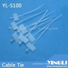 Attache de câble autobloquante pour le marquage (YL-S100)