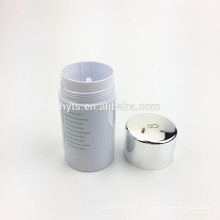 Cylindre forme vente chaude en plastique déodorant gel conteneur