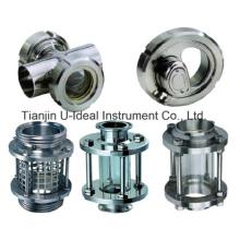 Visor de aço inoxidável sanitário para óleo, líquido, vapor