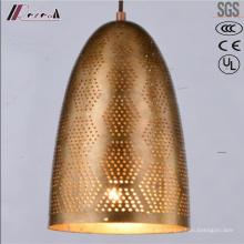 Iluminación colgante hueca redonda dorada moderna con comedor