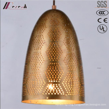 Modern Round Golden Hollow Pendant Lighting with Dining Room