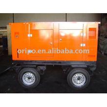 44kw 50hz, 220v conjunto de gerador de reboque com motor diesel lovol