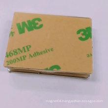 3M self adhesive backed thin rectangular block magnet