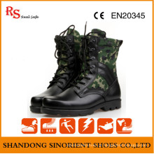 Black Action Leather Military Tactical Jungle Boots RS273