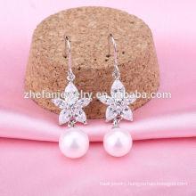 Purity silver 925 earrings fashion pearl earrings fashion 925 silver hook pearl earrings