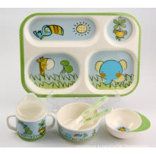 (BC-MK1001) Fashinable Design Melamine Kids Cute Dinner Set