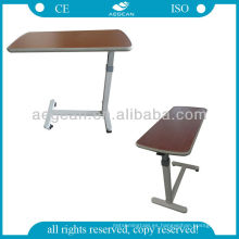 AG-OBT001 mesa de comedor dinning de madera del hospital portátil mesa de noche ajustable usado