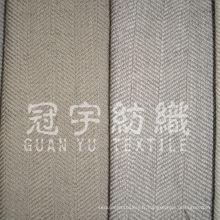 Tissu résistant en lin polyester pour rideaux