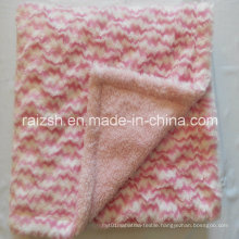 Double Layers PV Pile with Super Soft Short Plush Blanket for Kids