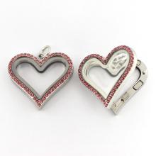 Fashion Heart Shaped Magnetic Floating Charm Locket Jewelry Pendant