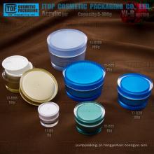Capacidade ampla gama universal da alta qualidade do atarraxamento rodada jar de cor personalizável clássica e popular embalagens de cosméticos