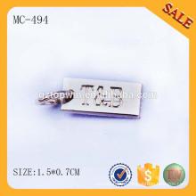 MC494 пользовательских гравированных ювелирных повесить бирку для браслета, металлических ювелирных изделий плита Гуанчжоу сделал