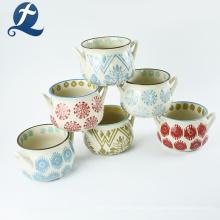 Planta de flor de alta qualidade bonito pequeno vaso colorido vaso de cerâmica