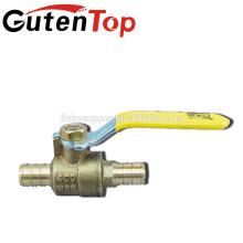 robinet à tournant sphérique en laiton / raccord en laiton pex / tuyau en laiton
