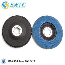 Angle Grinder Disco de aleta de molienda flexible azul