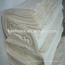 Itens em estoque Tipo de suprimento e tecido Crepe Pattern greige 100 algodão / poliéster de algodão planície / sarja calico tecido cinza