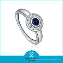 Hochwertiger runder Form Silber Blauer Saphirschmuck (SH-J0015R)