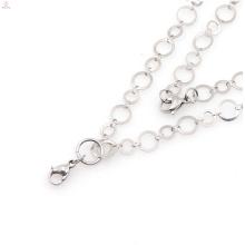 Silber lange Kette Nachahmung Halskette, Halskette Ketten Wolfram