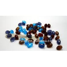 Crystal Strands Facettierte Perlen, ovale Kristallperlen