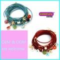 Bracelet à cordes coloré en alliage de zinc à la mode