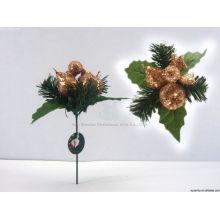 17cm Wreath Glitter décoration noire