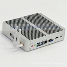 Eglobal 7ème génération Mini PC 7200e Windows 10 & Linux Kaby Lake Fanless 4k écran HD HTPC 300m WiFi Frame