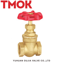 sand blasting brass color chrome plated with hand wheel brass gate valve