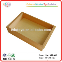 Montessori Language Materials Promotional Wooden Educational Toys Big Tray