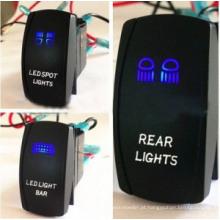 A cor dobro do diodo emissor de luz ilumina o interruptor de balancim marinho do carro do ABS