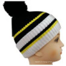 Bonnet tricoté avec POM POM NTD1621
