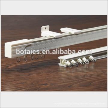 Perfil de alumínio janelas de correr curvado curvado pole da cortina, pólo montado no teto para cortina de hospital