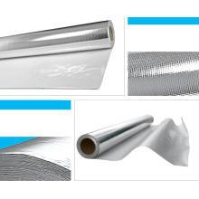 Tissu enduit de fibre de verre d'isolation thermique de papier d'aluminium
