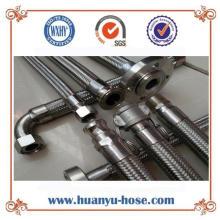 Manguera de metal flexible para montaje en acero inoxidable pulido
