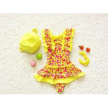 Cute Little Kids Girls Ruffled Swimwear