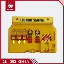 10-20 Bloqueos Estación de bloqueo de seguridad de plástico