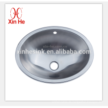 Edelstahl-Waschbecken mit runden und ovalen Schüssel, Waschbecken, Waschbecken