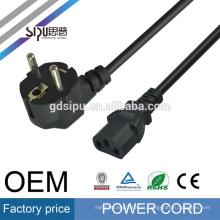 Cable de alimentación puro del enchufe de la UE del cable de cobre SIPU el 1.8m 3 * 0.75mm
