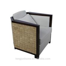 CANOSA 2016 capiz shell inlaid wood sofa living room furniture