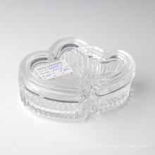 Wholesale Clear Glass Candy Bowl with Cap