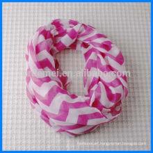 Fashion printed polyester loop scarf