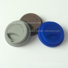 Tampas plásticas duráveis dos copos do silicone para beber
