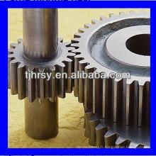 Arbre d'engrenage en acier et roue dentée