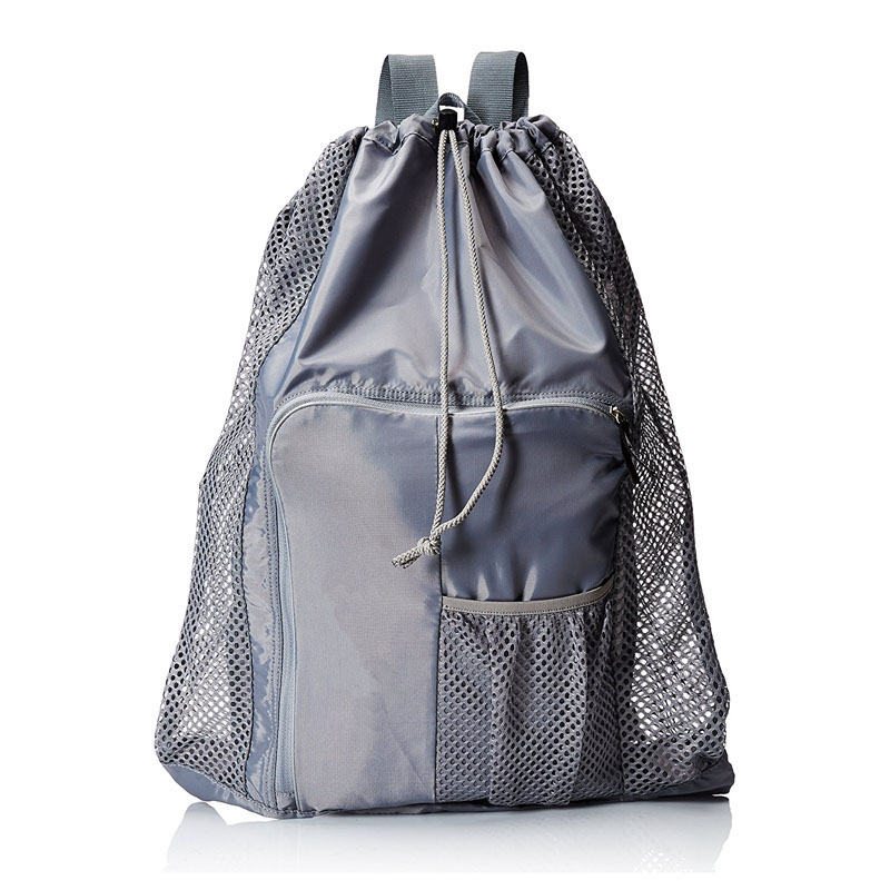 Grey Mesh Equipment Bag