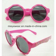 New Fashion Plastic Circular Shape Kids Sunglasses (CJ001)