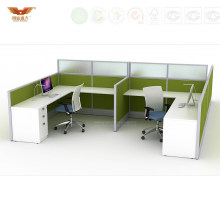 Green Panel Call Center Workstations Economical Office Cubicles (HY-235)