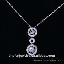Pendentif en argent massif dancingcz diamant pierre de la Chine fournisseur de bijoux de mode
