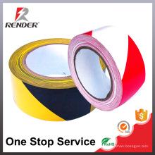 La muestra libre puede ser amarillo de encargo La aislamiento del PVC blanco que señala la cinta de la barrera, cinta de la precaución