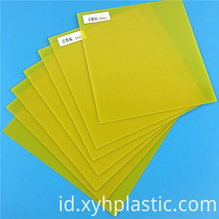 Yellow Epoxy Plate