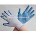 Zebra nitrilo nylon revestimento luvas de trabalho para venda 40g
